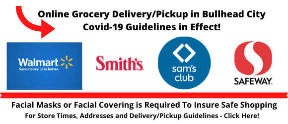 Bullhead City Grocery Stores providing pickup and delivery service