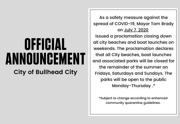 Bullhead Mayor Tom Brady Closes City Beaches