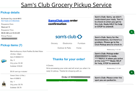 Sam's club Grocery Pickup Review