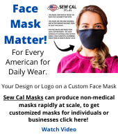 Get a customized face mask - great for businesses to cutimize their logo on masks!